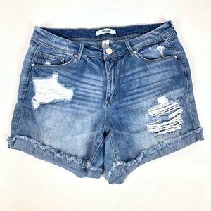 Refuge Distressed Cutoff Jean Shorts Size 10